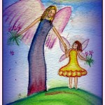 Angel and Girl on Hill   by Jo Beth Young