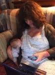 Ellie and Hope breastfeeding