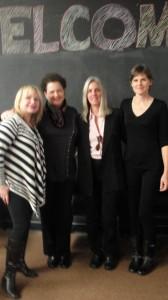 Frieda Birnbaum, me, Tina Traster, Valerie Gillies