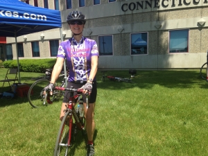 Lydia and her bike