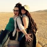 Sara and Ocean on a camel